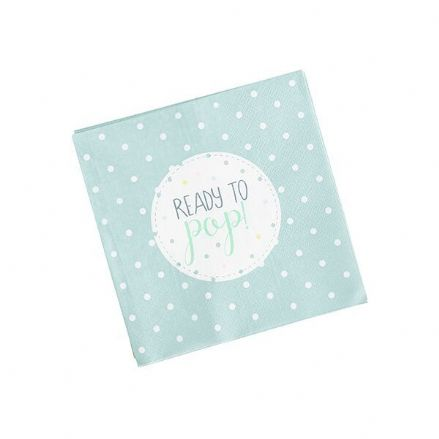 Ready To Pop Napkins - Mint Green